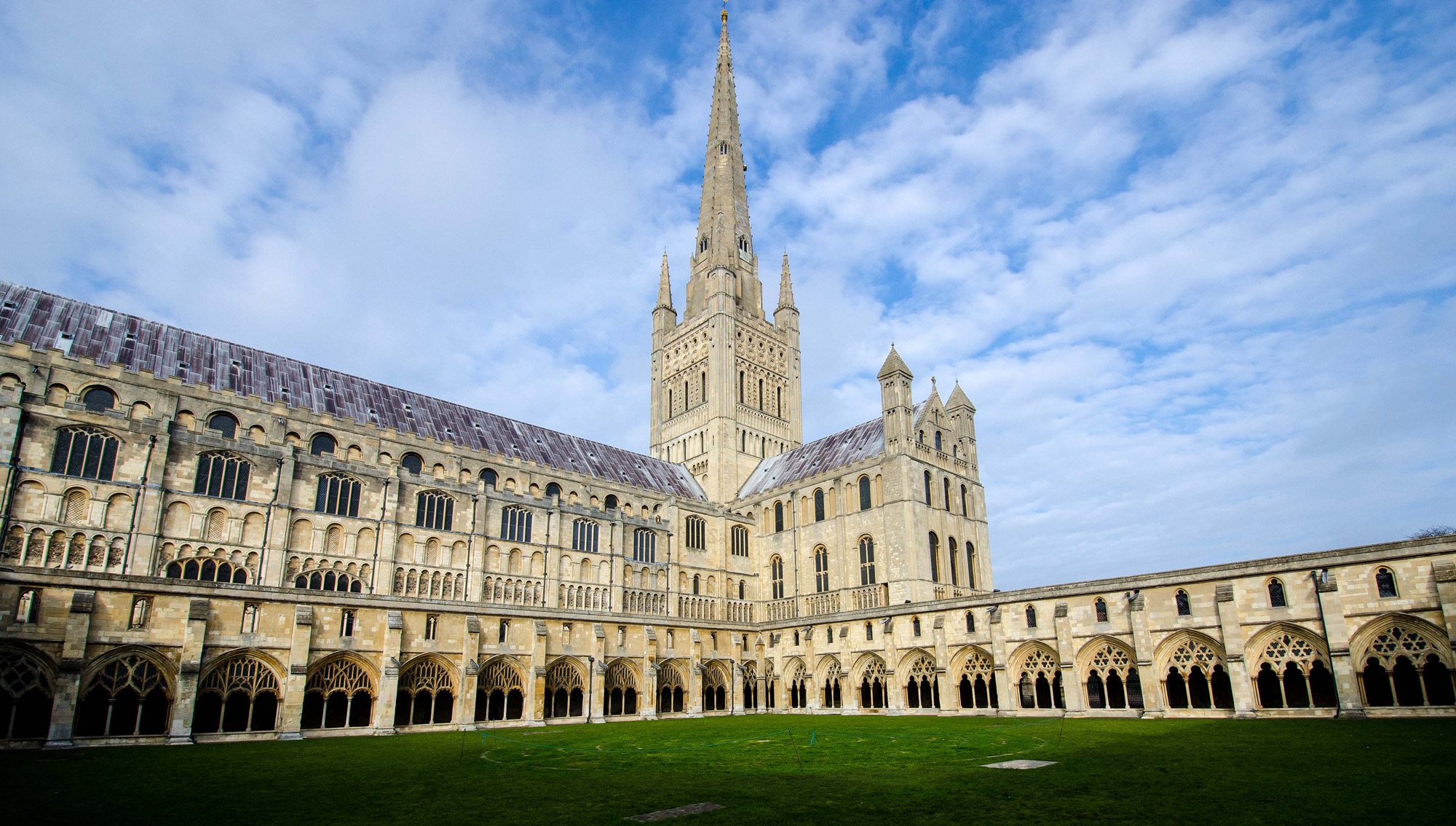 View of the impressive Norwich Cathedral