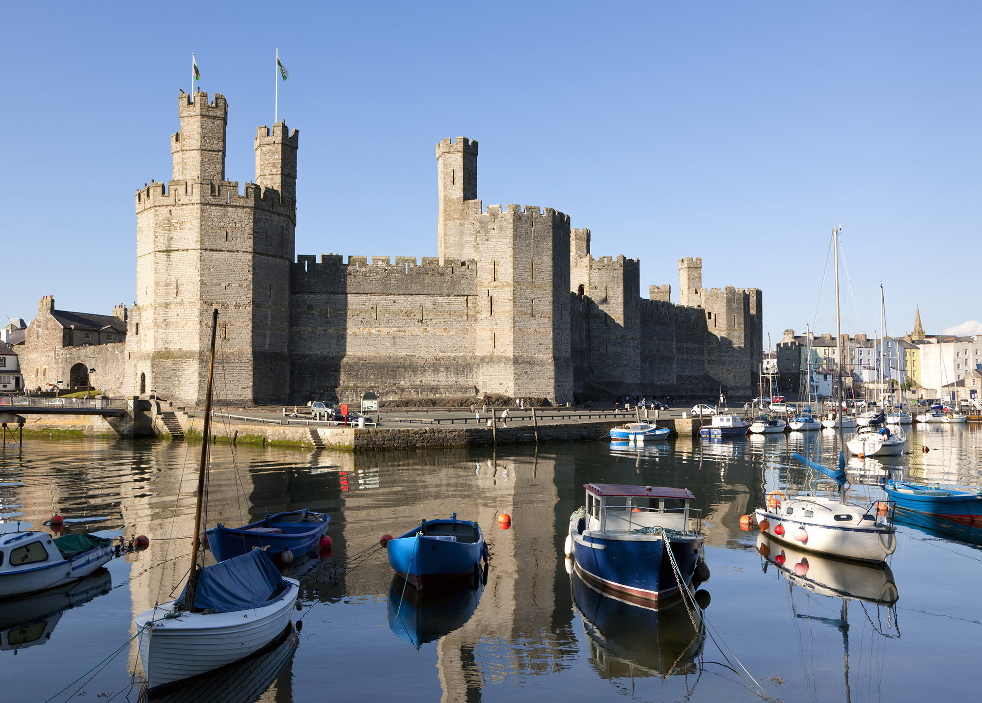 View of Caernarfon Castle from across the river