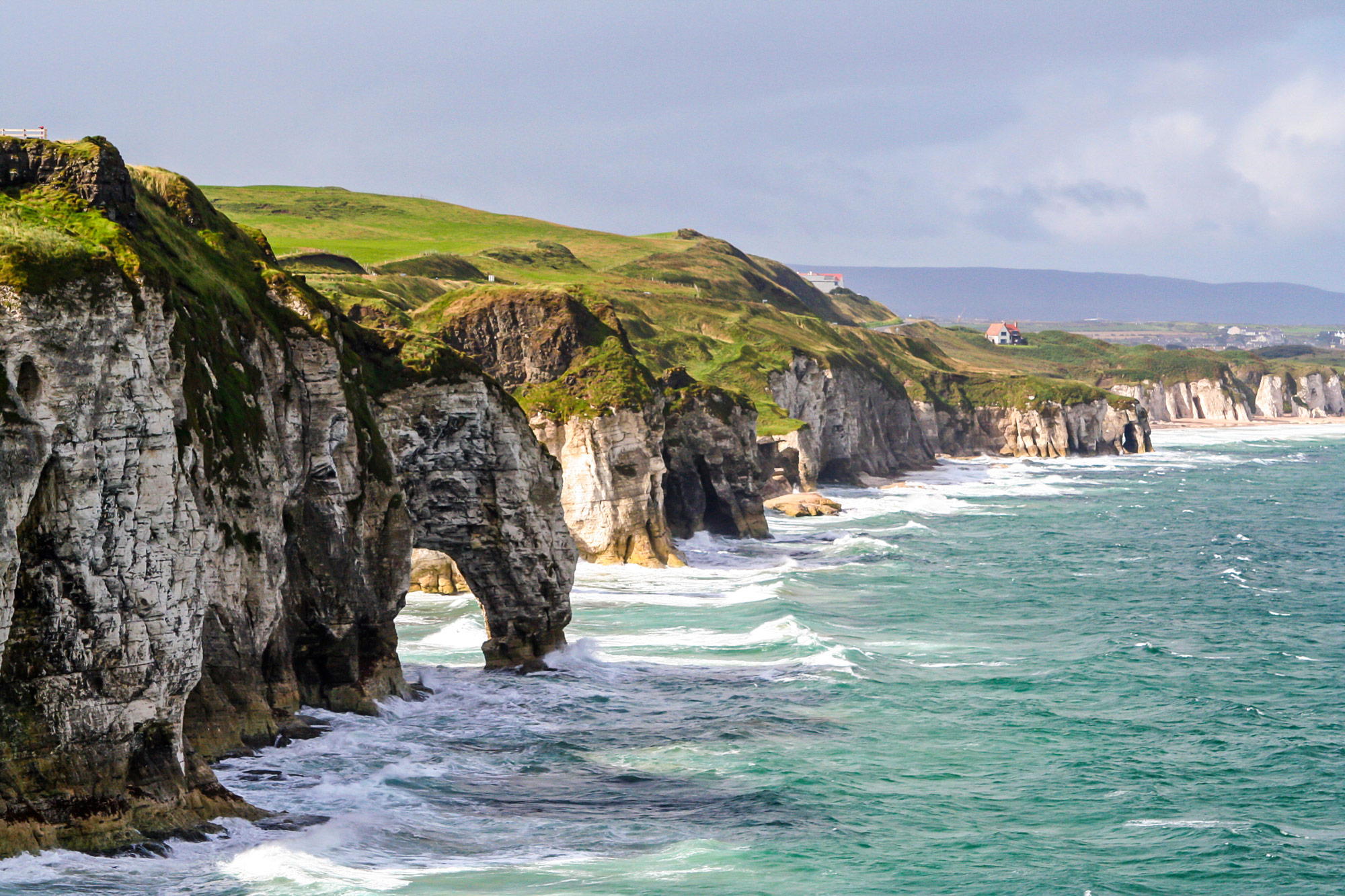 Irish coast line - cliffs meet sea