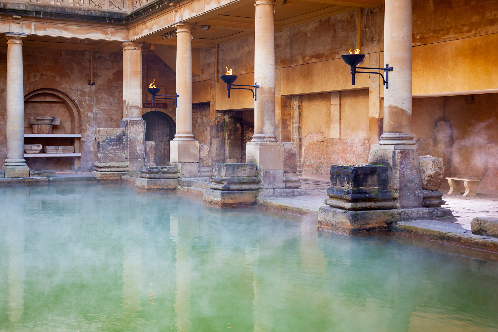 Hot baths at the Roman Bath Museum