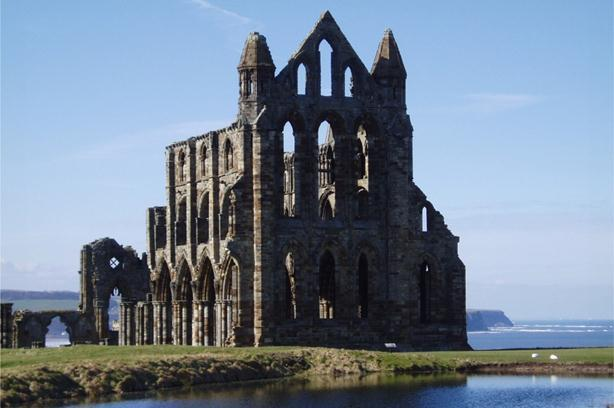 Ruins of Whitby Abbey in Yorkshire