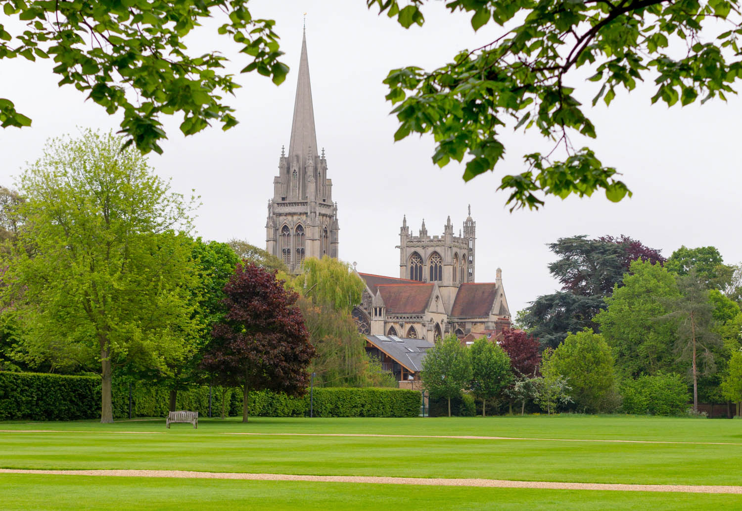 View of a Cambridgeshire church and grounds