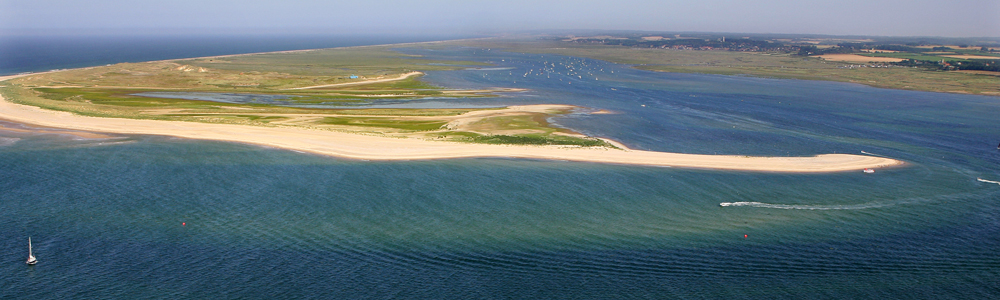 Aerial view of Norfolk beach