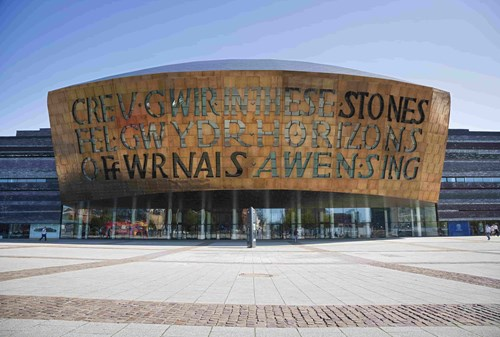 Front of the Wales Millennium Centre