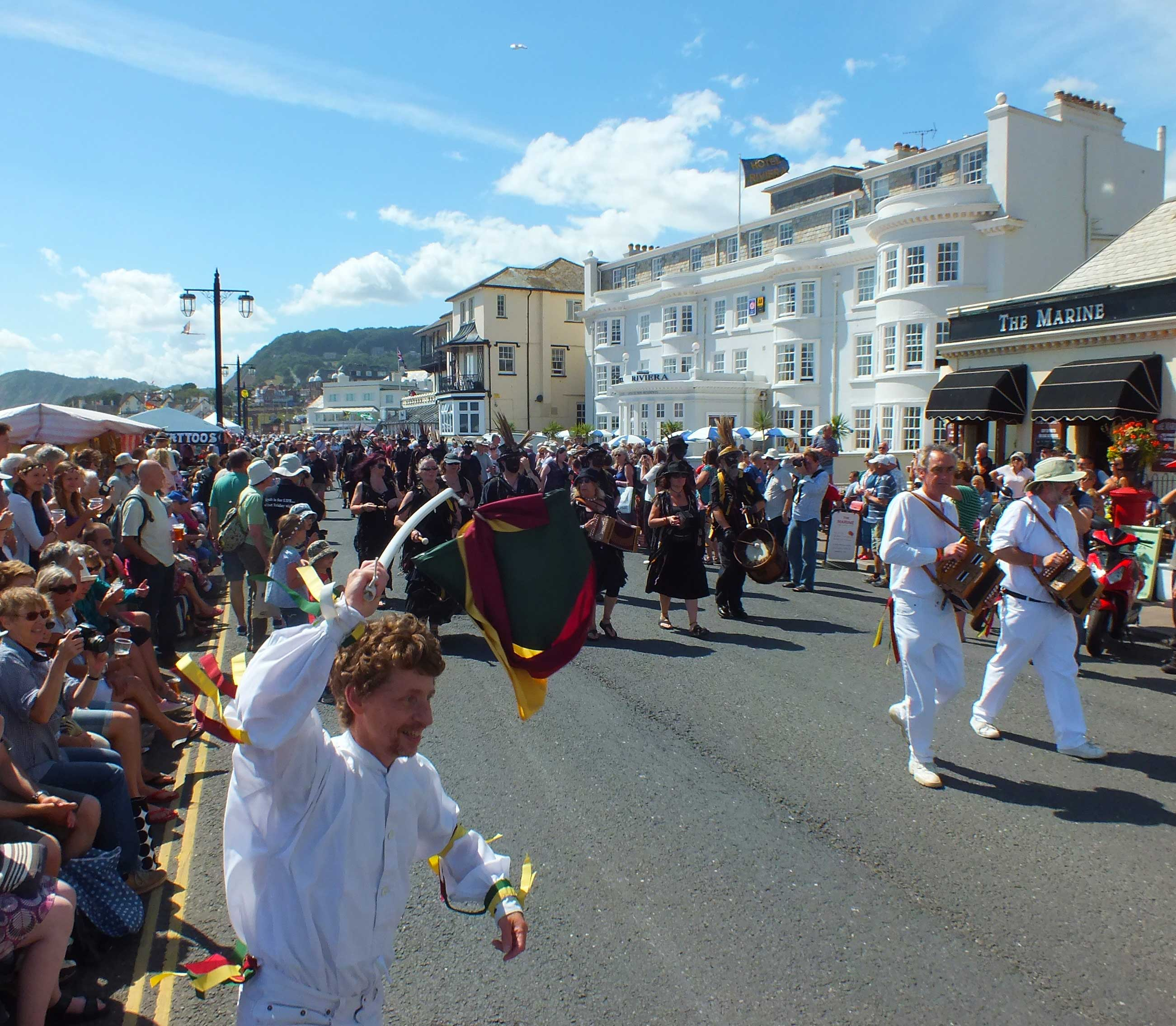 A parade along the seafront