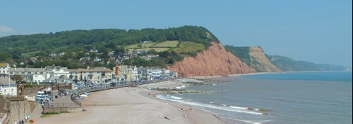View of Sidmouth coastline