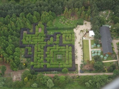 The MAZE AT PRIORY MAZE AND GARDENS