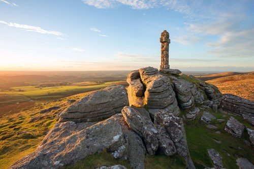 118 year old cross sited on top of Brat Tor