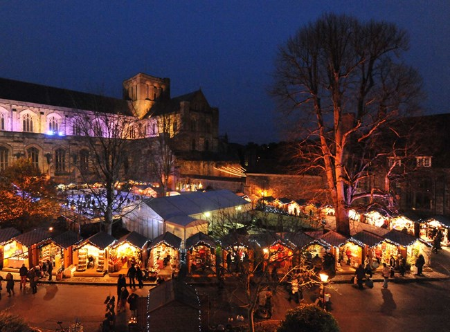 The Christmas Market at Winchester Cathedral