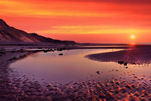 Sunset at Runton Beach Poppyland Holiday Cottages