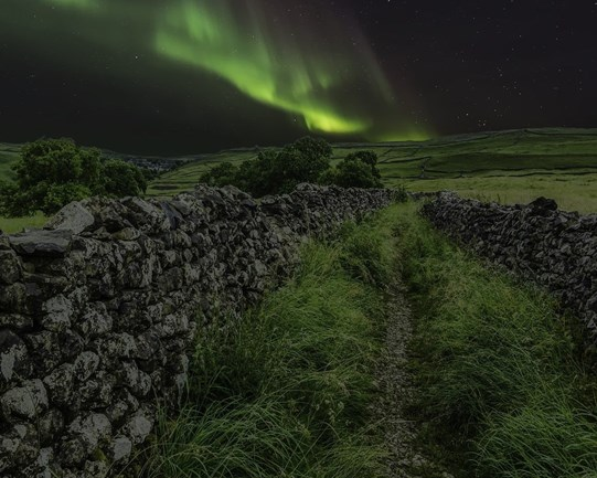 Aurora Borealis in the North York Moors National Park