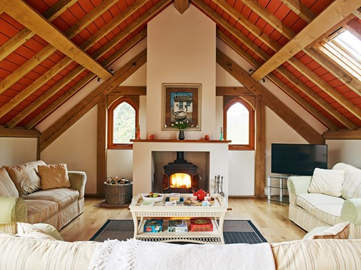 Orchard Lodge Lounge at Flear Country Cottages and Lodges, Devon