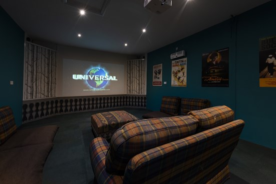 Cinema room in a cottage
