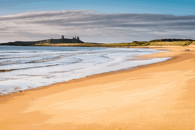 Embleton Bay in Northumberland