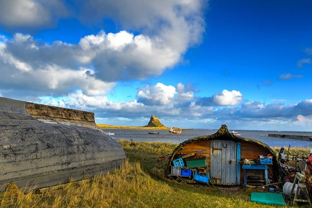 Holy Islands Lindisfarne in Northumberland