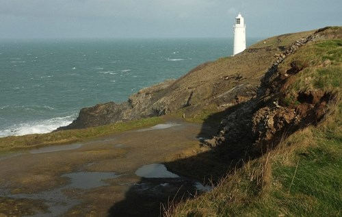 Lighthouse at Trevose Head in Cornwall