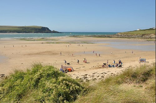Beach at Daymer Bay in Cornwall