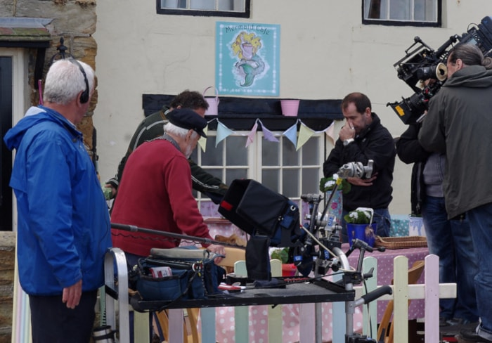 "BBC crew filming for ""Old Jack's Boat"" in Staithes"