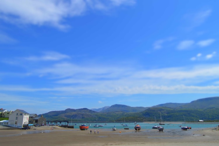 Barmouth Beach in Wales