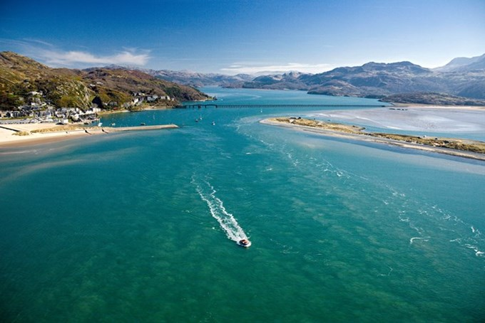 View towards Barmouth Bridge. Image courtesy of VisitWales