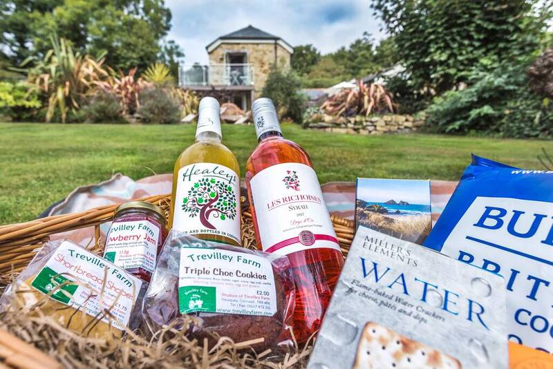 Welcome hamper filled with Cornish produce