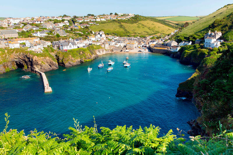 Looking down at Port Isaac bay