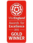 2012 Gold National VisitEngland Awards for Excellence