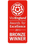 2013 Bronze National VisitEngland Awards for Excellence