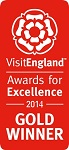 2014 Gold National VisitEngland Award for Excellence