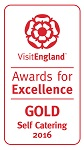 2016 Gold National VisitEngland Award for Excellence