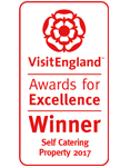 2017 Self Catering Property of the Year Winner. National VisitEngland Award for Excellence
