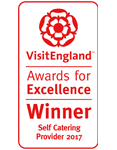 2017 Self Catering Provider of the year Winner. National VisitEngland Award for Excellence
