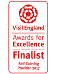 2017 Self Catering Provider of the year Finalist. National VisitEngland Award for Excellence
