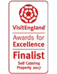 2017 Self Catering Property of the year Finalist. National VisitEngland Award for Excellence