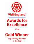 2018 National VisitEngland Award for Excellence. Dog Friendly Business - Gold