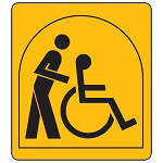 M3A: wheelchair user travelling with a friend or family member who helps with everyday tasks