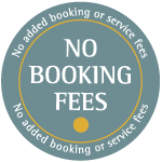 No booking fees cottage badge